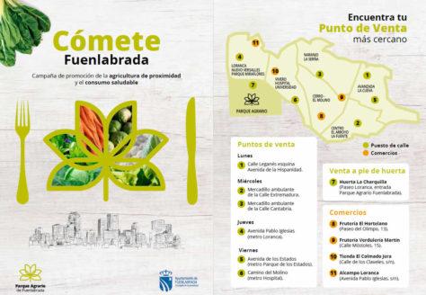 Productos de cercanía huerta de Madrid Parque Agrario Fuenlabrada